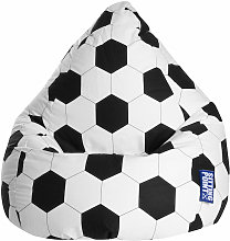 Pouf poire enfant Football XL