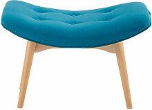 Pouf repose-pieds style scandinave bleu pétrole