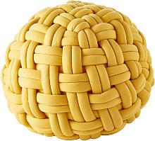 Pouf tressé jaune