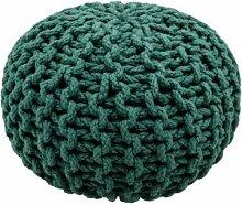 Pouf tricoté Lili vert pois