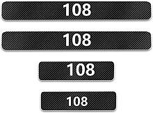 Pour Peugeot 108 Voiture Style Seuil En Cuir Fibre