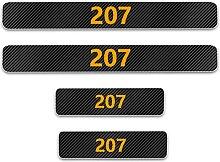 Pour Peugeot 207 Voiture Style Seuil En Cuir Fibre