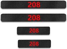 Pour Peugeot 208 Voiture Style Seuil En Cuir Fibre