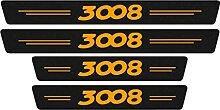 Pour Peugeot 3008 Voiture Style Seuil En Cuir