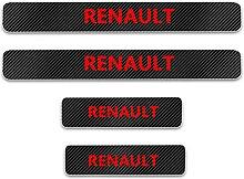 Pour Renault Voiture Style Seuil En Cuir Fibre De