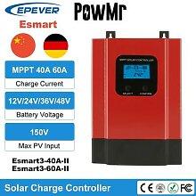 PowMr – Esmart3 contrôleur solaire MPPT, 40a