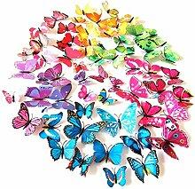 PPLAX 12pcs Papillon coloré Pile décoratif de
