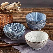 PPuujia Bol à riz japonais traditionnel en