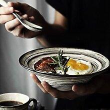 PPuujia Bol rétro nordique japonais en céramique