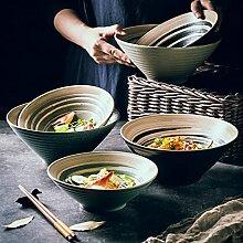 PPuujia Grand bol japonais en céramique pour