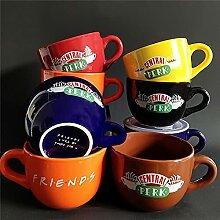 PPuujia Tasse à thé en céramique avec émission