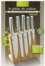 Pradel bloc bambou 5 couteaux mixte