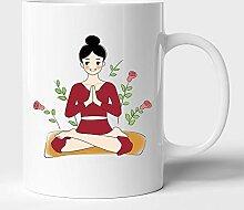 Pranayam Yoga in Garden Tasse à café en