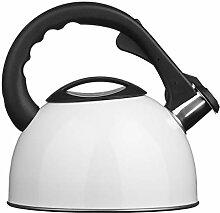 Premier Housewares Bouilloire Sifflante Blanche -