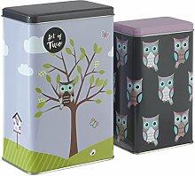 Premier Housewares Happy Owls Boîtes de rangement