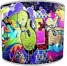 Premier Lighting Ltd 10 inch Brick Wall Graffiti