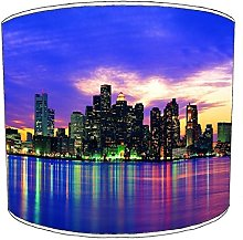 Premier Lighting Ltd 12 inch New York Blue Skyline