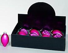 Premier Paquet de 12 Boules en Verre Olive Rose