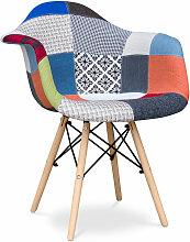 Premium Chaise Dawick - Patchwork Pixi Multicolore