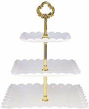 Présentoir à Gâteaux,Plastique 3-Etages Stand
