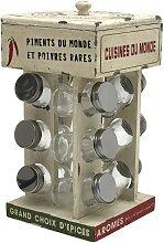 Présentoir étagère à épices avec 12 bocaux en