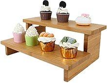 Présentoir Stand de gâteau à 2 niveaux Table de