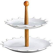 Présentoir Stand de gâteau blanc céramique