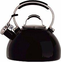 Prestige Bouilloire sifflante émaillée Noir 2 l