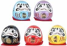 PRETYZOOM 5 Pièces Japonais Lucky Daruma Figurine