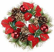 PRETYZOOM Couronne de Noel en Pomme de Pin avec