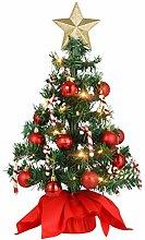 PRETYZOOM Mini Sapin de Noël Petit Bureau avec