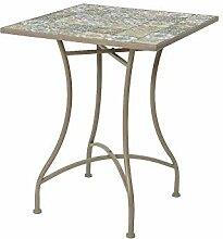 PRG Table pliante avec décoration mosaïque 58 x