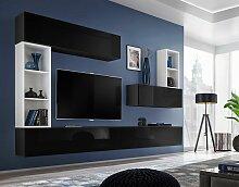 Price Factory - Ensemble meuble tv mural CUBE 1.