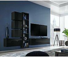 Price Factory - Ensemble meuble TV mural CUBE 11