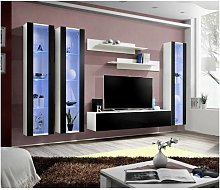 Price Factory - Ensemble meuble TV mural FLY-C