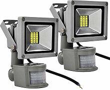 PrimLight 2pcs 20W Projecteur LED Détecteur de