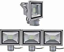 PrimLight 4pcs 30W Projecteur LED Détecteur de