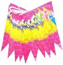 Princesse drapeau fête fournitures dessin animé