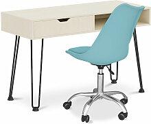 Privatefloor - Bureau en bois Design pieds Hairpin