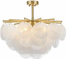 Privatefloor - Lampe lustre en cristal Doré