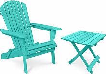 Privatefloor - Table + Chaise de jardin Adirondack