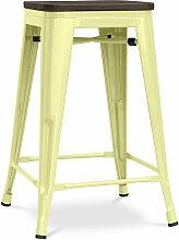 Privatefloor - Tabouret Tolix 60cm en bois