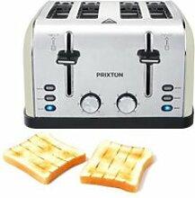 PRIXTON Grille-pain à 4 fentes Bianca
