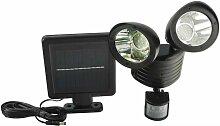 Pro Garden - Projecteur solaire 2x22led avec radar