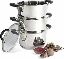 ProCook Gourmet Steel - Set Cuiseur Vapeur Inox