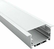 Profilé encastrable large 65mm pour ruban LED -
