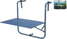 ProGarden Table de balcon Bleu mat