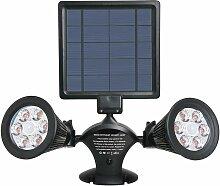 Projecteur double spot solaire extérieur étanche