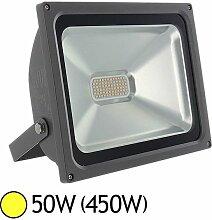 Projecteur ext LED 50W (450W) IP65 Blanc chaud