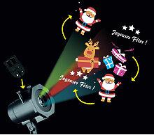Projecteur extérieur à LED avec 6 films animés